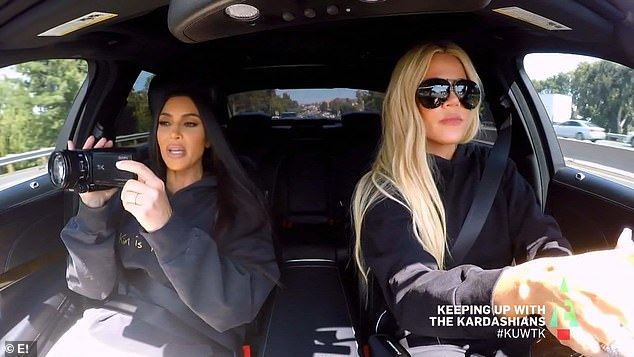 Under surveillance: Kim and Khloe tried following Kourtney around to find out what she was doing