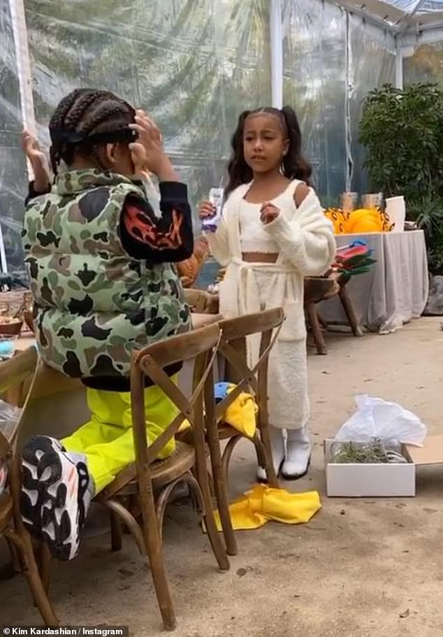 Fashion forward: Kim Kardashian already has a big fan in the pajama sets as little North paraded around in a custom Cozy Collection matching ensemble