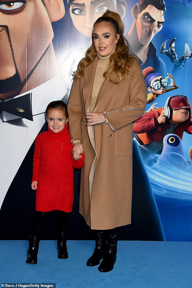 Special bond: The star posed up a storm next to her adorable daughter Sophia, who Tamara shares with her husband Jay Rutland, 38