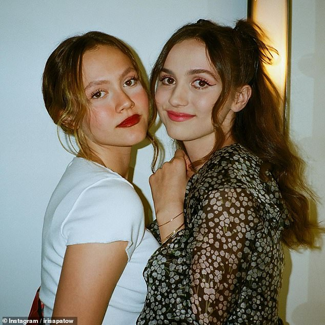 Funny girl: The party comes after Leslie critiqued her daughter Iris' make-up after she posted a picture of herself with her sister Maude on Instagram in August