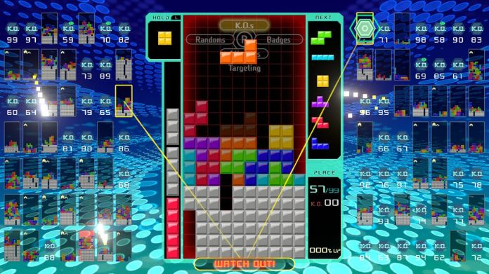the targeting system in Tetris 99