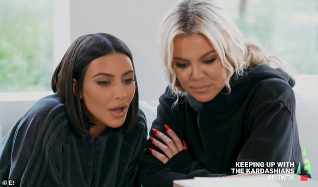 Called out: Kim and Khloe over the phone issued a 'proposal' to Kourtney of firing her