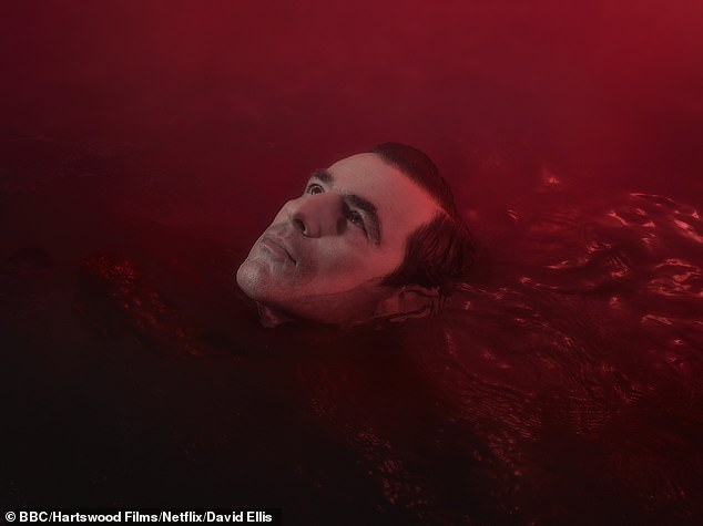 Extreme: Show composer David Arnold explained he wanted the music 'to stink of Dracula' so used real blood and the sounds of screaming babies(Claes Bang pictured as the vampire)