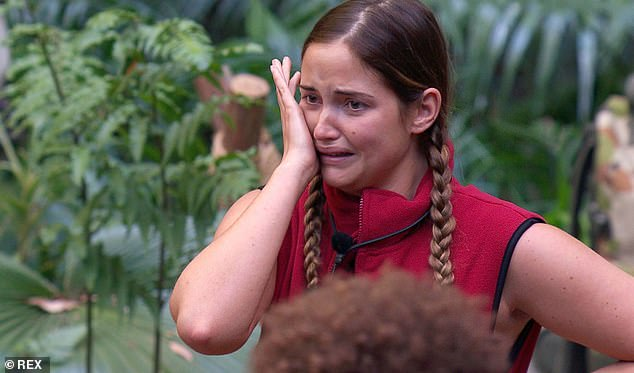 Tough time:Jacqueline reportedly threatened to quit I'm A Celebrity over Myles Stephenson's allegations about her husband's alleged affair with Love Island beauty Gabby last yea