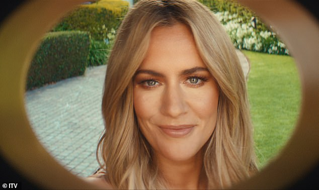 I'm here!Moments later Love Island host Caroline arrives at the pool party and struts out into the garden area where the bash is in full swing
