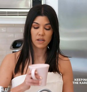 Dating rule: Kourtney refused to talk about her dating life on the show