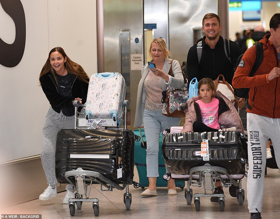 Family:Her mother Selina also accompanied Jacqueline as she made her way through the airport after she and husband John flew to Australia to congratulate their daughter on her win