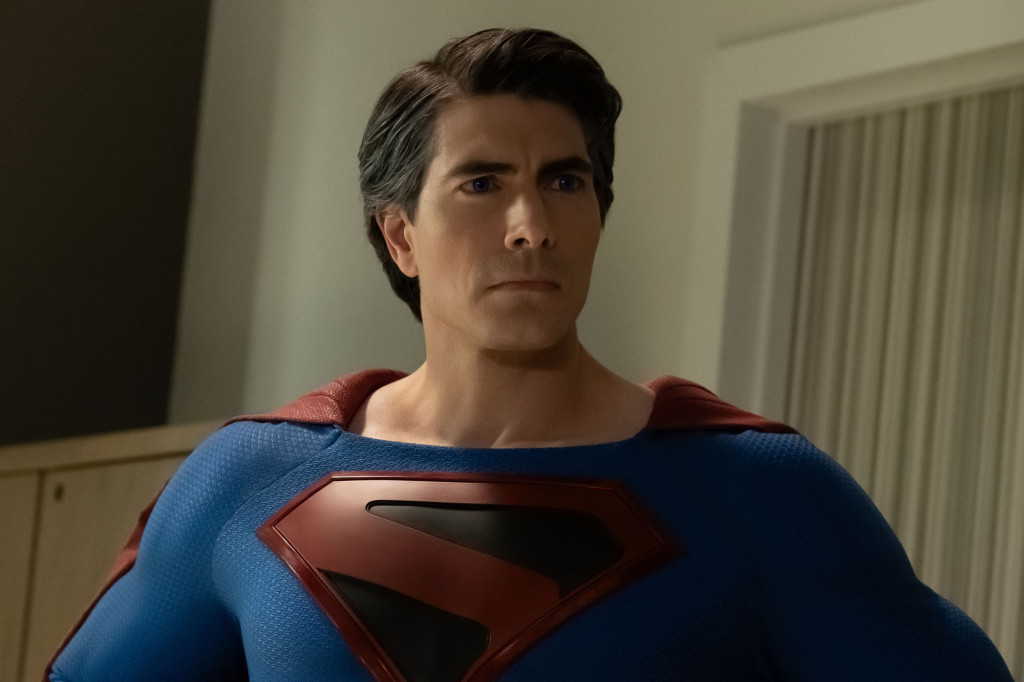 "Batwoman -- ""Crisis on Infinite Earths: Part Two"" -- Image Number: BWN108b_0181.jpg -- Pictured: Brandon Routh as Superman -- Photo: Katie Yu/The CW -- © 2019 The CW Network, LLC. All Rights Reserved."