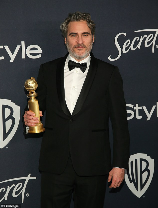Making a change: The Academy has revealed that the upcoming Oscars will be completely plant based and green after Joaquin Phoenix's push for Golden Globes menu change