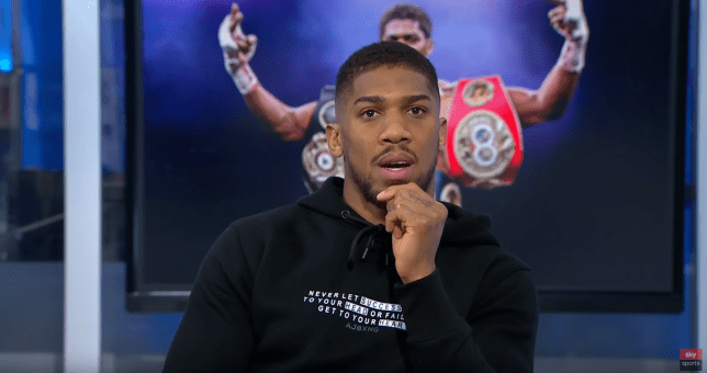 Anthony Joshua is backing Tyson Fury to win the rematch against Deontay Wilder