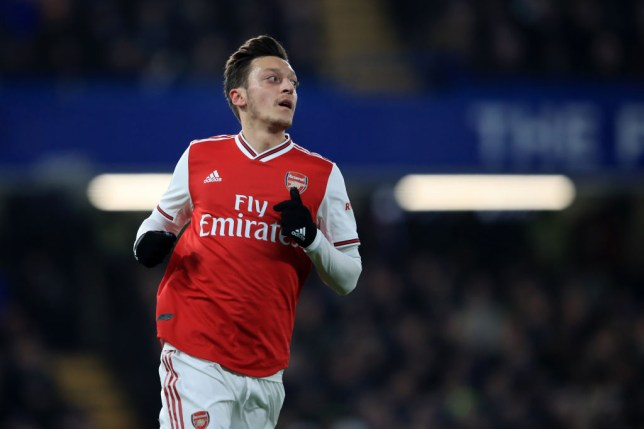 Arsenal star Mesut Ozil in action against Chelsea