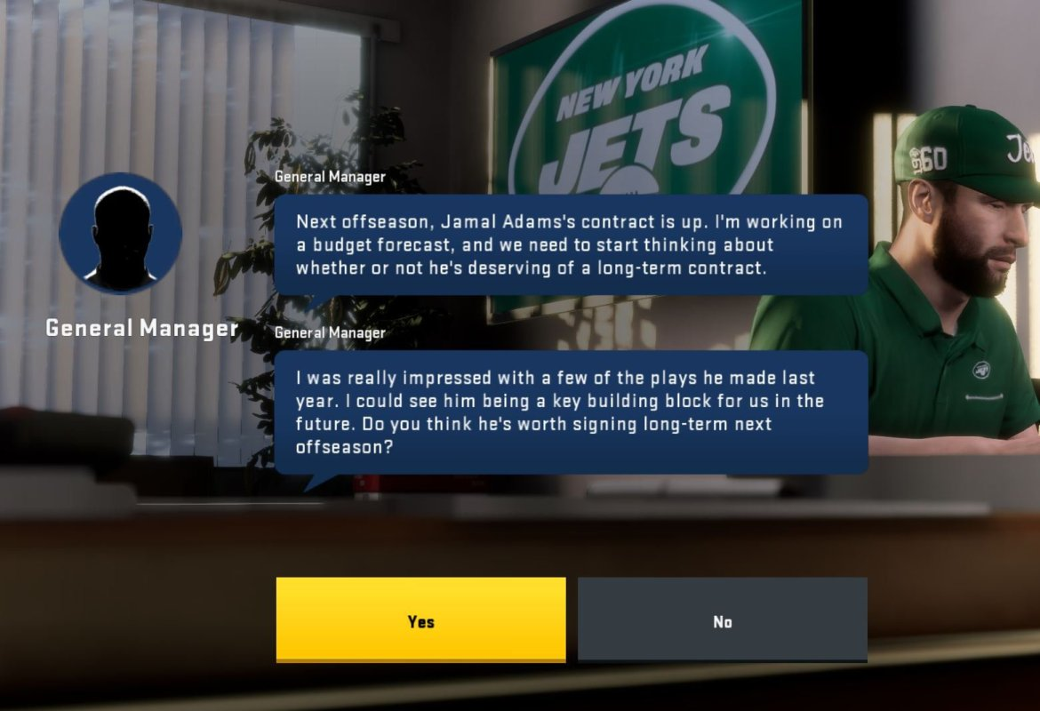 Jamal Adams contract is up in Madden 20