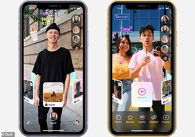 A new AR-powered social network called Octi will let users interact with their friends by aiming their phone cameras at each other