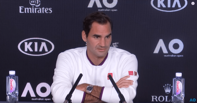 Roger Federer has rated his chances of winning in Melbourne