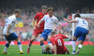 Scott Parker played 18 times for England, from 2003-13.