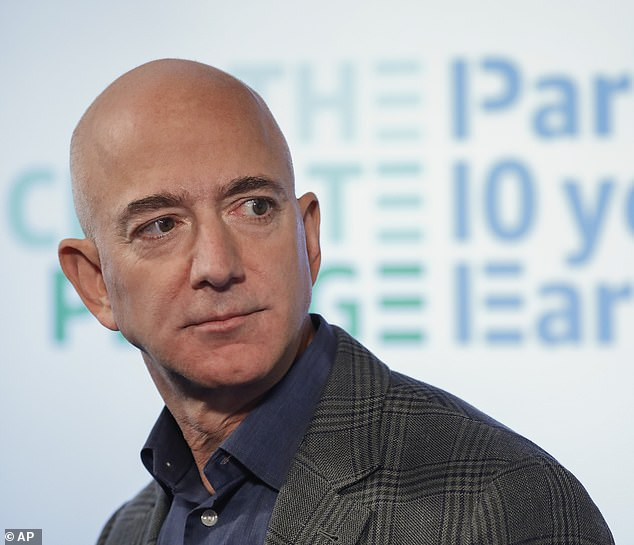 Apple prides itself on the iPhone's state-of-the-art security system, but researchers suggest that is what allowed for the attack on Amazon CEO Jeff Bezos' (pictured) smartphone. In Bezos' case, hackers likely exploited a series of bugs Apple had overlooked make their was through all the layers of the 'phone's considerable defenses