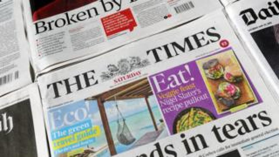 The Times and other newspapers