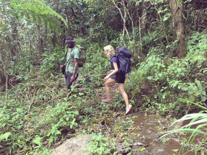 Sadie climbing Fiji's Mount Tomanivi