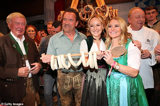 Could be wurst:As Arnold lifted his sausages, which were entwined around a giant wooden spoon