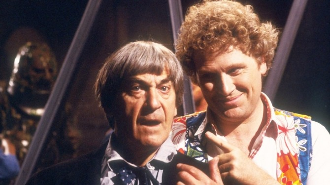 Jon Pertwee and Colin Baker in Doctor Who's The Two Doctors