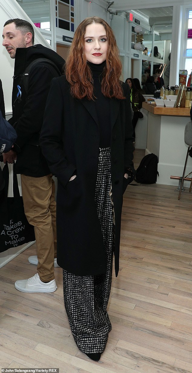 On the move: The actress also attended a promo event at the Variety Sundance Studio