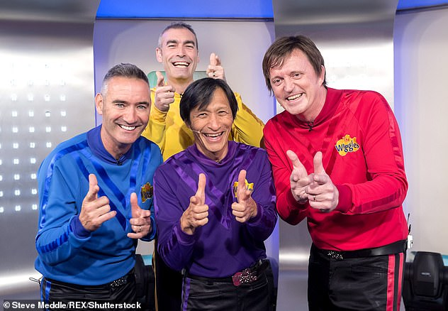 The frightening circulatory condition caused Page (pictured, back) to leave the Wiggles back in 2006