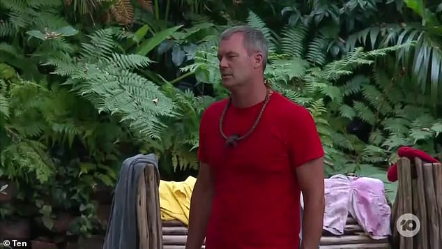 Over: Tom backed down, saying: 'No, I apologise. I should have asked. Look, I apologise to Charlotte because perhaps she was upset by some of the things I said'