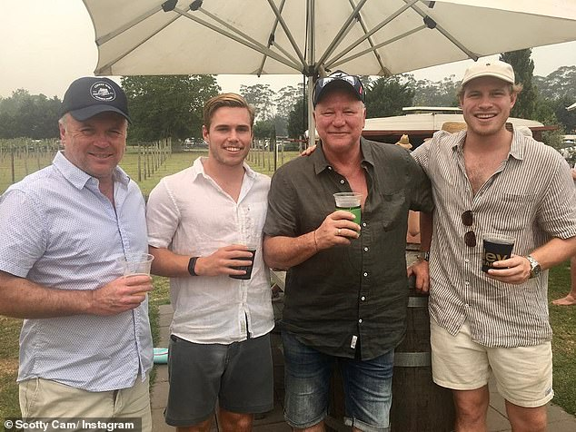 'We were lucky': Scott narrowly avoided losing his holiday home near Mollymook after spending the New Year's period at the property with his family (Pictured on December 29)
