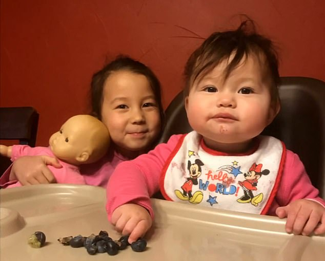 Young children like Adalynn (left) and Abigail (right) are typically more susceptible to viral infections, although it's not yet clear what the new coronavirus's effects on kids are
