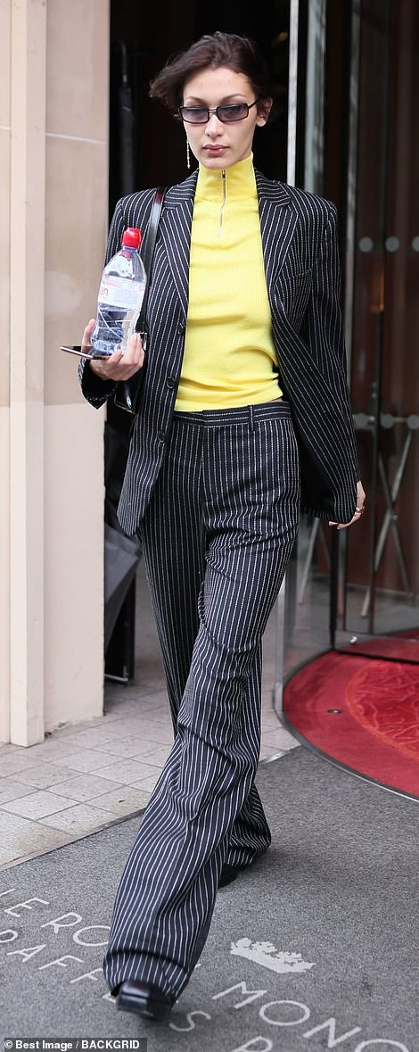 Fashionista:Bella made another sensationally chic appearance as she stepped out of the Royal Monceau hotel in Paris earlier in the day