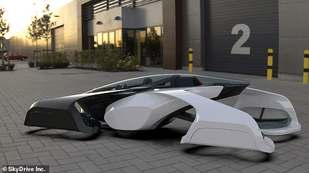 The car will be able to travel as low as three feet above the ground and at speeds of up to 93mph