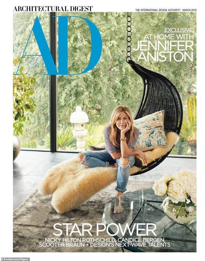 Her haven:Jennifer opened the doors to Architectural Digest in February 2018. She told the magazine that she'd 'want to be a designer' if she wasn't an actress because she loves 'the process'