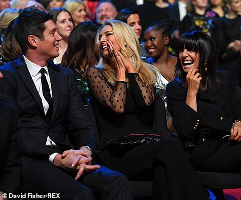 Strictly speaking: Vernon Kay, Tess Daly and Claudia Winkleman laughed along with David's gags as he fronted the series
