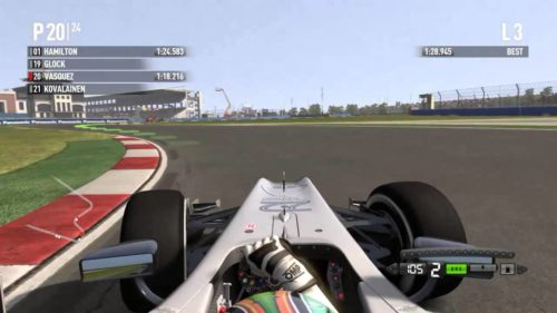 F1 2011 at the Istanbul circuit in Turkey