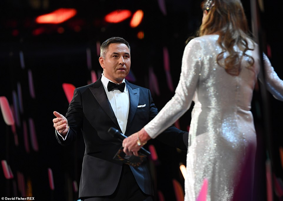 Opening the show:He then welcomed Caitlyn Jenner to the stage to present the first award of the night