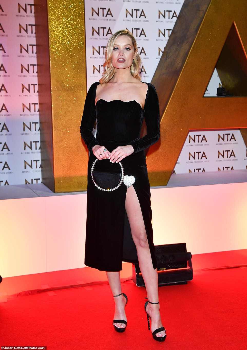 Filling in: Laura Whitmore has been standing in as Caroline's replacement during the current season of Love Island