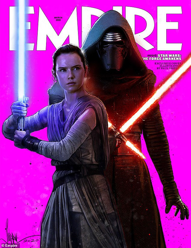 Also making the list:In a list published by this month's Empire magazine called '100 Greatest Movies of the Century', Star Wars: The Force Awakens came in at 48 (pictured)