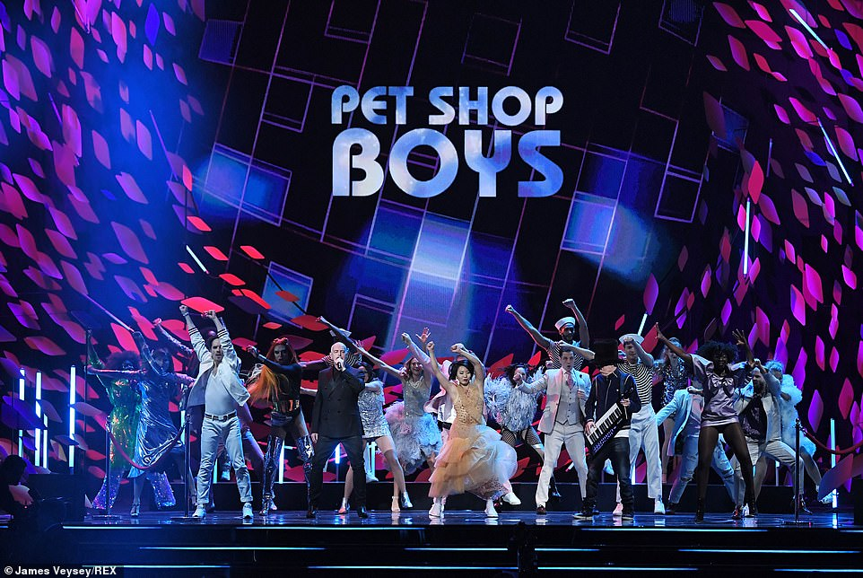 Quirky? There was a bizarre performance from iconic group the Pet Shop Boys
