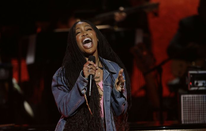 Sza performs at the live concert ARETHA! A GRAMMY CELEBRATION FOR THE QUEEN OF SOUL