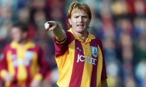 Stuart McCall, seen here in 1999, made over 350 appearances for Bradford as a player and is now in his third stint as manager of the club.
