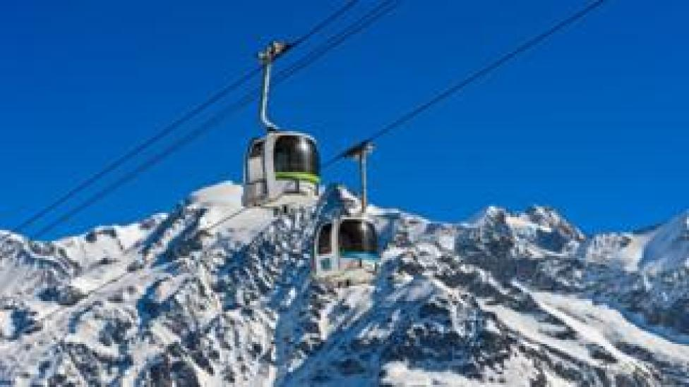 Cable car in les Contamines-Montjoie