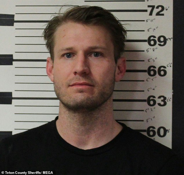 Mug shot: Hayden Panettiere's boyfriend Brian Hickerson was arrested in Wyoming on Valentine's Day after allegedly striking her in the face during a fight