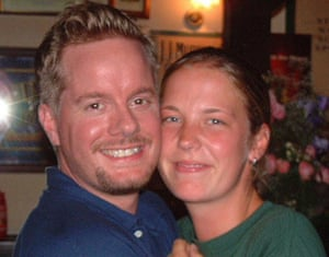 Andrew and Jenny, at the Irish pub in Vienna in 2003 .