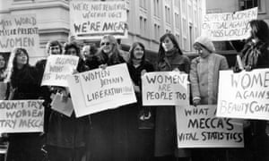 Women's Liberation Movement protest against the Miss World contest in 1970