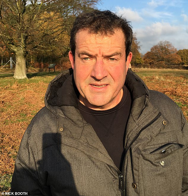 Nick Booth, 59, pictured, was told by a consultant two years ago that he had advanced bowel cancer and following two years of aggressive treatment he was told that the condition was terminal