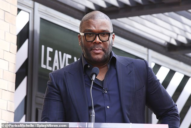 Sad: Tyler Perry's nephew, Gavin Porter, killed himself in prison and family members are suspicious of foul play; seen in Los Angeles on Friday