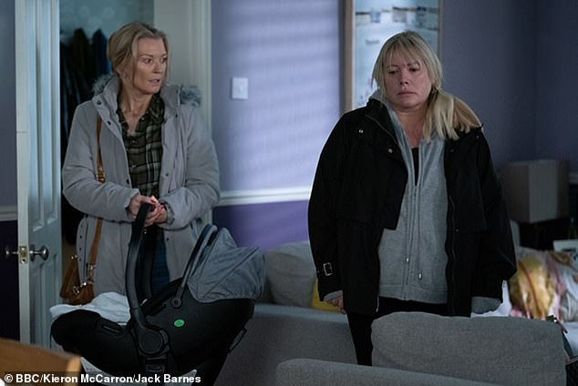 Devastated: Sharon Mitchell found out that her 13-year-old son Dennis Rickman had died just moments after giving birth
