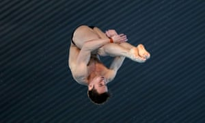Tom Daley at the FINA/CNSG Diving World Series at Aquatics Centre on May 19, 2019 in London, England.