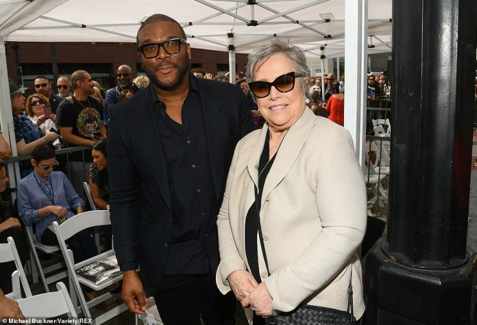 Support: Kathy Bates, seen here with Perry, turned out to show her love for the TV star