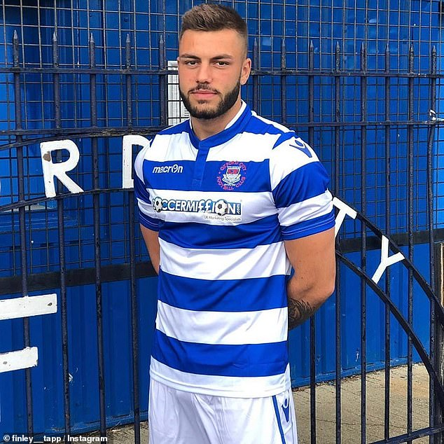 Sportsman: Elsewhere, it was revealed that Finn could find himself in hot water with Oxford City football club when he returns to the UK, after breaching his contract by jetting to South Africa mid-season to appear on Love Island
